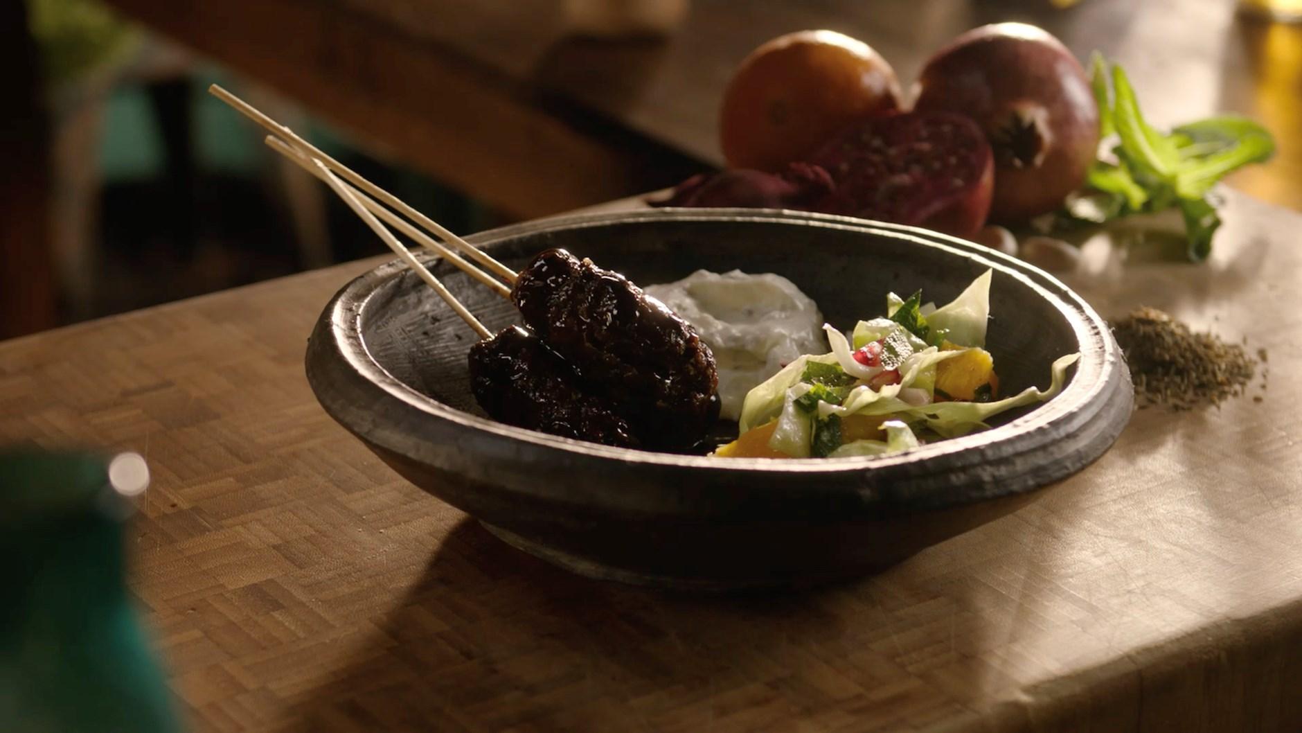 Beef Kebab With Yogurt And Cabbage Lurpak