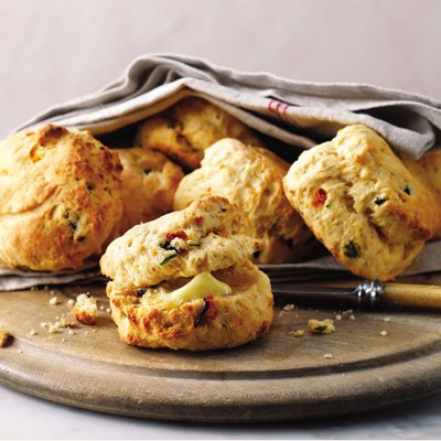 Olive and Sun Dried Tomato Scones