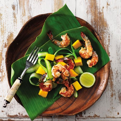 Spiced Grilled Prawns with Tropical Salad