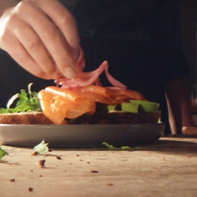 Open Salmon Sandwich from Lurpak