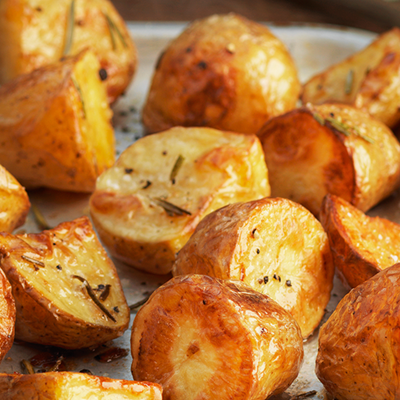 Crispy new potatoes with rosemary & garlic