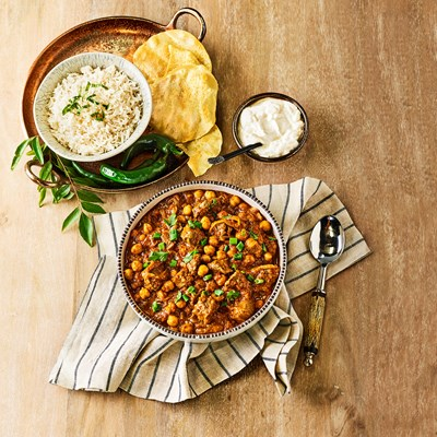 Quick Lamb and Chickpea Curry
