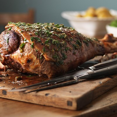 Perfect Roast Lamb with herb, caper and lemon butter sauce