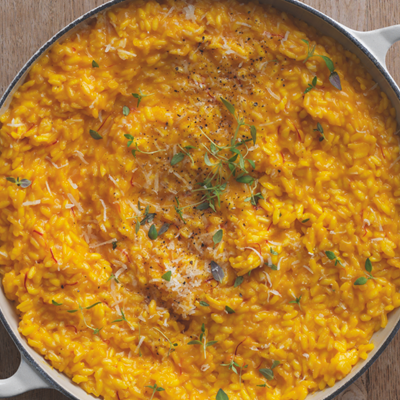 SAFFRON AND PARMESAN RISOTTO