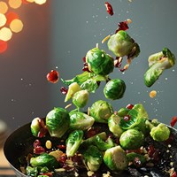 PAN FRIED SPROUTS