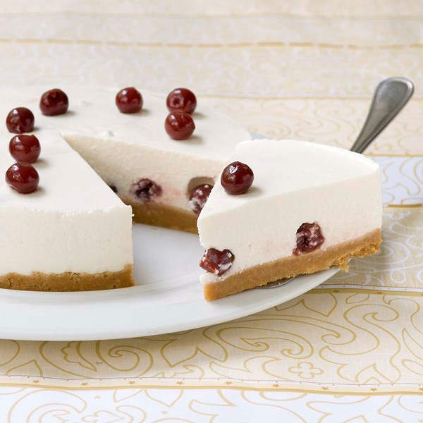 Light cheesecake με βύσσινα