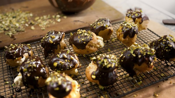 Chocolate Orange Profiteroles