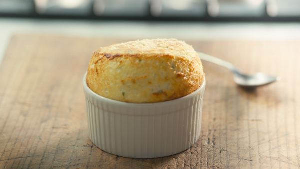 Cheese Soufflé with Gruyere Cheese and Tarragon