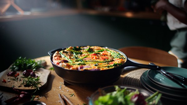 Broccoli and red onion Frittata