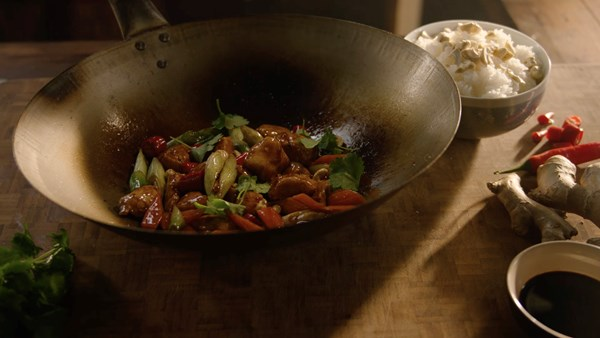 Chicken Stir-Fry in Hoisin Sauce