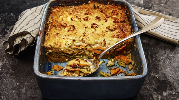Sweet Potato and Pesto Lasagne