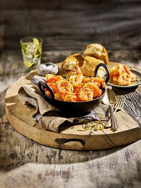 Orange and Thyme Butter Shrimp
