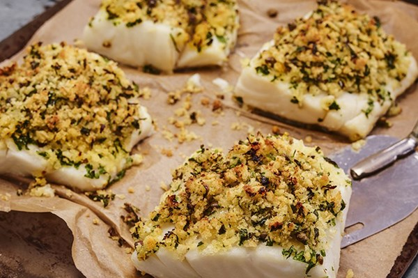 Caper and Parsley Crusted Fish